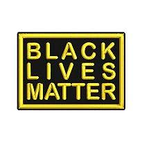 Aufnäher Black Lives Matter ca. 7x5cm von Wolfszeit, versch. Farben