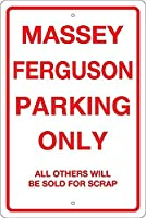 Massey Ferguson Parking Only 注意看板メタル安全標識注意マー表示パネル金属板のブリキ看板情報サイントイレ公共場所駐車