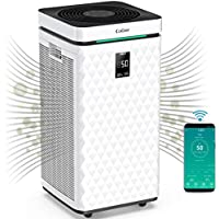 Colzer 3500 Sq Ft WiFi Smart Air Purifiers with Dual H13 HEPA + Activated Carbon Composite Filter High CADR 470 CFM Air Cleaner for Efficient Purification (KJ800)