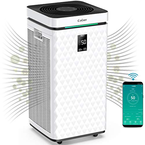 COLZER 3500 Sq Ft WiFi Smart Air Purifiers for Home Large Room with Dual H13 HEPA