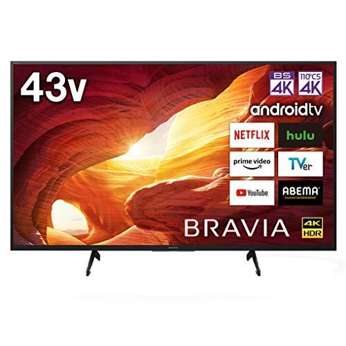 ソニー 43V型 液晶 テレビ ブラビア KJ-43X8000H 4Kチューナー 内蔵 Android TV (2020年モデル)