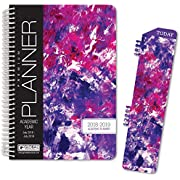 HARDCOVER Fashion Daily Planner Set (Includes Matching Journal and Book Mark) Purple Art