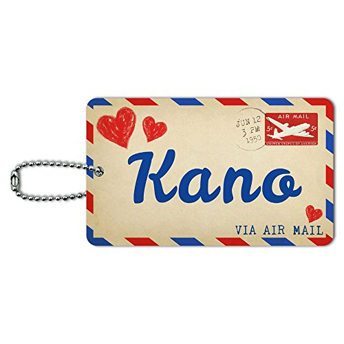 Air Mail Postcard Love for Kano ID Tag Luggage Card Suitcase Carry-On