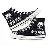 jiushice Tokyo Ghoulanime - Zapatos de lona unisex para adulto, con cordones, botines informales, zapatos deportivos para gimnasio, color, talla 39 1/3 EU