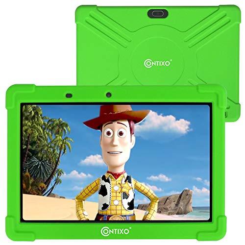 contixo K101A Tableta para niños con Pantalla IPS de 10 Pulgadas con 2 GB de RAM, 16 GB de ROM, Android 10, Control Parental para niños, bebés, niños pequeños en casa, Schoo (Verde)