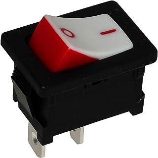 AERZETIX Negro C10723 2 posiciones Interruptor conmutador basculantes de boton SPDT ON-ON 10A//250V 16A//12V