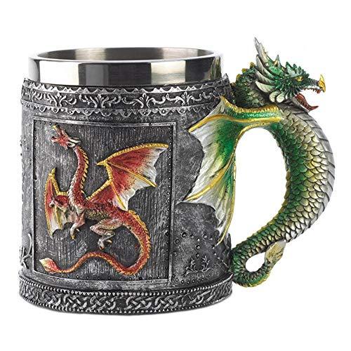 DNAN Juego de Tronos Dragon Coffee Cup, Vidrio de Vino de Resina...
