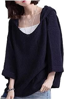 [フローライズ] ゆるふわ ゆったり 可愛い ニット パーカー セーター 楽ちん 5分袖