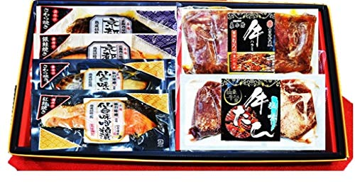 【父の日限定予約】仙台発祥牛タン・仙台味噌焼・京都西京焼6種6Pギフト 仙台名物の厚切牛タン・牛ハラミとレンジで仙台味噌焼・京都味噌焼のグルメセットです。