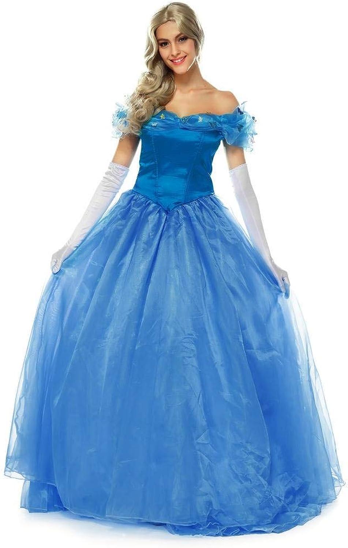 YiyiLai Damen Prinzessin Stil Design Kostüm Cosplay Rollenspiel Kostüm Halloween Bekleidung blue