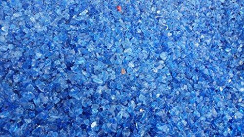 Doubleyou Geovlies & Baustoffe 2kg Glas Splitt 5-10mm blau
