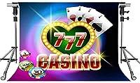 HDカジノの背景ポーカーチップカラースポット10X7フィートの写真の背景をテーマにしたパーティーの写真ブースYouTubeの背景XCMT482
