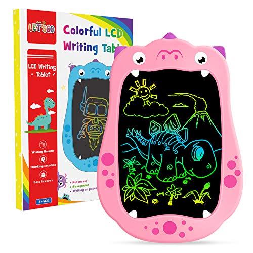 LET'S GO! Geschenk Mädchen 3-12 Jahre, LCD Schreibtafel Zaubertafel für 4 5 6 Jahre Spiele ab 3 Jahren Maltafel Spielzeug 3-12 Jahren für Mädchen Lernspielzeug Kinderspiele ab 6 Jahren