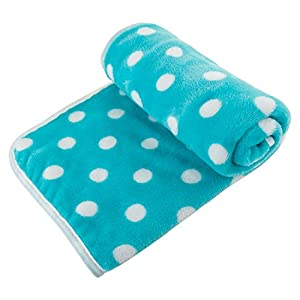 UTOPIPET Pet Blanket for Dog Cat Animal 35 x 27 Inches Fleece Polka dot Design All Year Round Puppy Kitten Bed Warm Sleep Mat Fabric Indoors Outdoors