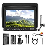 """Neewer F100 7 Inch Camera Field Monitor HD Video Assist Slim IPS 1280x800 4K HDMI Input 1080p with 2600mAh Li-ion Battery/USB Charger,11"""" Magic Arm for DSLR Cameras, Stabilizer, Film Video Making Rig"""