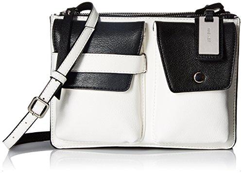 Nine West Damen Pop Pocket Crossbody-Tasche, Snow Petal/Black, Einheitsgröße