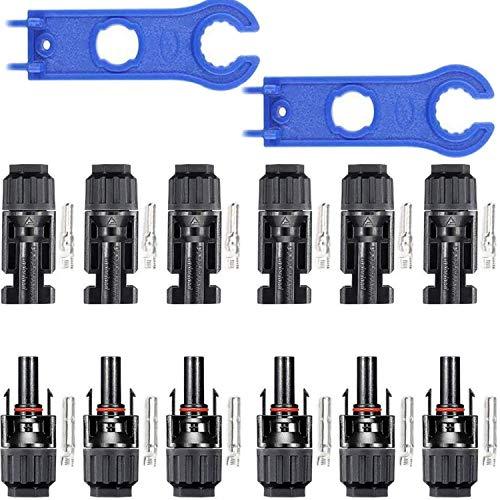 RUNCCI-YUN 6 Paar solarpanel stecker,männlich Männlich/Weiblich Solarpanel Kabelstecker,Photovoltaik Steckverbinder