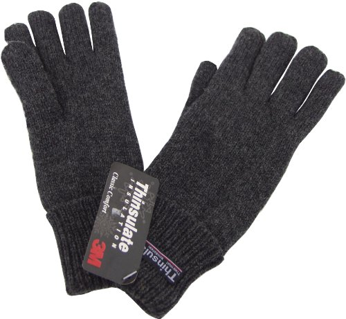 1 paire de gants Thinsulate doigts - Gris - Large