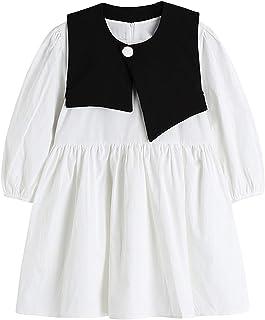 Wujianzzholyq ملابس الشاطئ للنساء، فستان أبيض بأكمام قصيرة للنساء من قطعتين تصميم جمالي أسود برباط أنيق أنيق من Frcoks الصيف