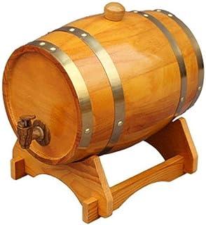 Tonneau à vin en bois 5L Fûts de chêne, Tonneau à vin en bois spécial Fontaine à boire, Baril de stockage Baril de bière B...