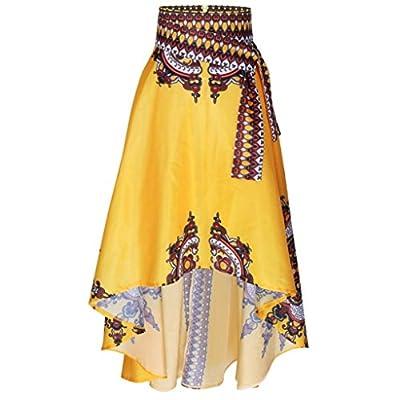 RTYou New Style African Women Printed Summer Boho Long Dress Beach Evening Party Maxi Skirt