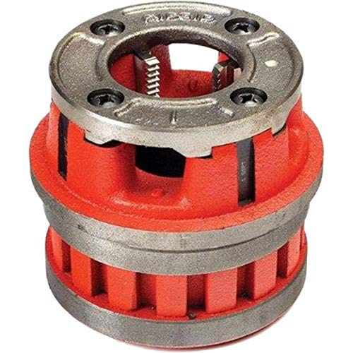 RIDGID 37405 Model 12-R Hand Threader Die Head, Alloy Right-Handed NPT Die Head for Nominal Pipe Size of 1-1/4-Inches,Red,Small