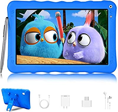 Tablet 9 Inch, Android 9.0 Pie Tablet 32GB / 128GB ROM and 3GB RAM Quad core/Dual Camera/WiFi/GPS/Bluetooth/OTG/Netflix/Tablet for Kids (Blue)