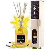 Profumatore bastoncini, diffusore di profumo per ambiente con 8 bastoncini di Bambù, Agrumi & Vaniglia, 250 ml, deodorante ambiente bastoncini per aromaterapia, fragranza Made in Italy, 100% Naturale