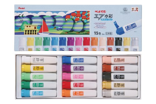 Pentel paint F watercolor WFC2-15 poly tube containing 15 colors