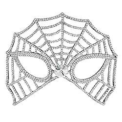 Style-3 Bridal Full Rhinestone Crystal Fancy Masquerade Eye Mask
