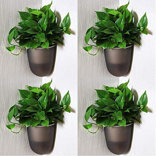 Sungmor Set of 4 Wall Hanging Corner Planter Creative Self Watering Triangle Flowerpots 90 Angle product image