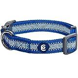 Blueberry Pet Essentials Reflective Back to Basics Adjustable Dog Collar, Navy Blue, Medium, Neck 14.5'-20'
