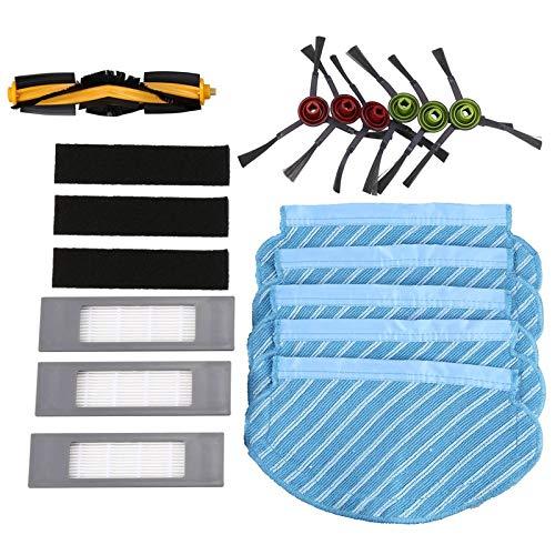 LilyJudy Cepillo de filtro trapeador Set para Deebot Ozmo 920 950 Partes de aspirador reemplazo hogar Accesorios