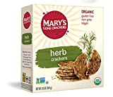 Mary's Gone Crackers Herb Crackers, Organic Brown Rice, Flax & Sesame Seeds, Gluten Free, 6.5 Ounce...