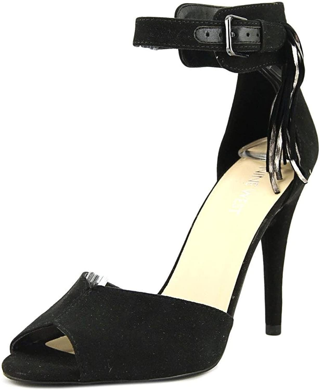 Nine West Womens Amma Peep Toe Casual Ankle Strap Sandals