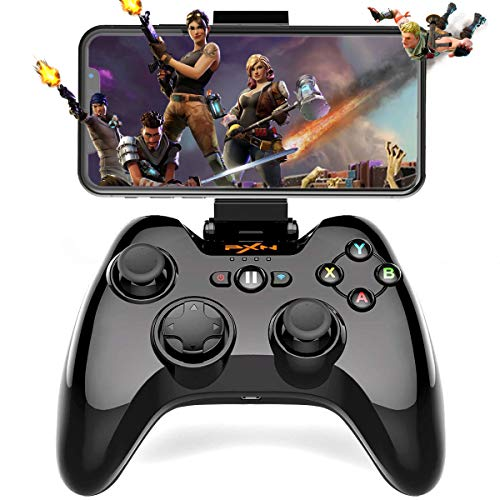 Megadream Wireless Gamepad Controller, iOS MFi Gaming Joystick with Clamp Holder for iPhone XS, XR X, 8 Plus, 8, 7 Plus, 7 6S 6 5S 5, iPad, iPad Pro Air Mini, Apple TV - Direct Play