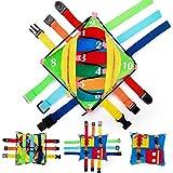 N-B Giocattolo educativo per Bambini Giocattolo con Fibbia - attività Giocattolo con Cuscino con Fibbia sensoriale (12 abilità di Base)