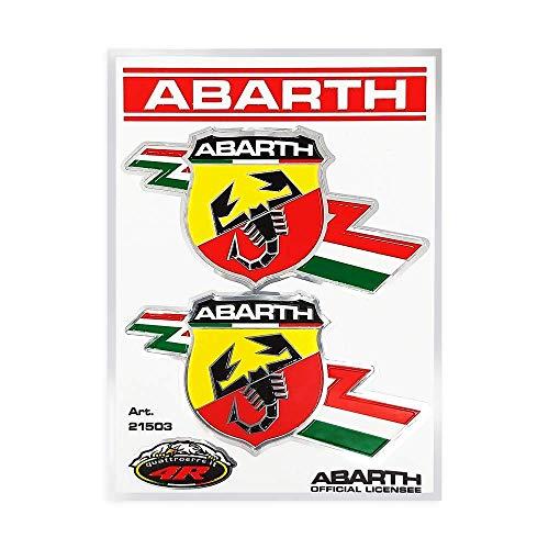 Abarth - 21503 - Adesivo Ufficiale, 2 Scudetti Folgore, 94 x 131 mm