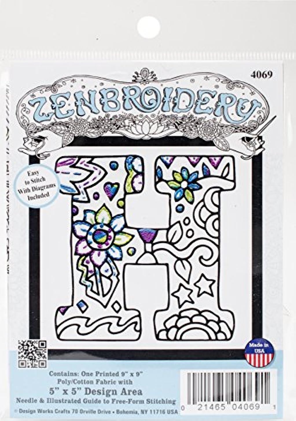Design Works Crafts Inc. 4069 Design Works Zenbroidery, Letter H, 5