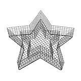 bellissa Hochwertige Stern-Gitter Form als Grabschmuck wetterfest für Friedhof oder Garten-deko fürs Beet