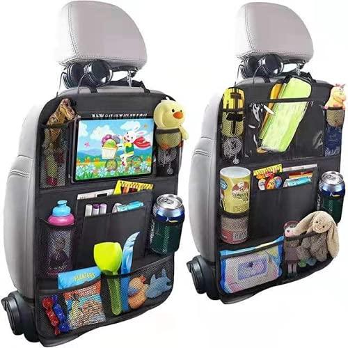 Bolsa de almacenamiento de asiento de automóvil, bolsa de almacenamiento multifuncional Bolsa de colgaje antipatada, accesorios de viaje Bolsa de almacenamiento