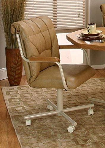 Casual Rolling Caster Dining Chair Arms Wood Polyuretha and Animer and price revision San Francisco Mall with