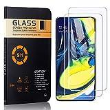 GIMTON Vetro Temperato per Galaxy A90, Nessuna Bolla Pellicola Protettiva in Vetro Temperato per Samsung Galaxy A90, Anti Impronte, Anti Graffio, 2 Pezzi