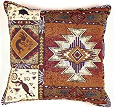 Simply Home Kokopelli Southwestern Decorative Tapestry Toss Pillow USA Made Sku PTP833