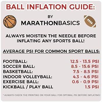 MarathonBasics 17 Piece Ball Pump Needle Kit - 16 Air Pump Needles, Extension Hose, Plastic Case