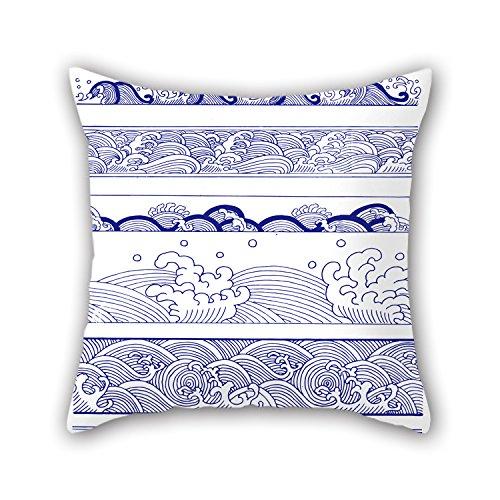 artistdecor Weihnachten Kissen of Chinese Style Blau und Weiß Porzellan 40,6x 40,6cm/40, von 40cm Beste Passform für Spielen Raum Weihnachten Liegestuhl Auto Shop Fußboden Double Seiten