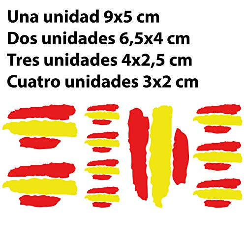 Custom Vinyl Pegatinas Banderas DE ESPAÑA Stickers AUFKLEBER Decals Moto Moto GP Bike Coche (Colores Bandera ESPAÑA/Spain Flag Colors)