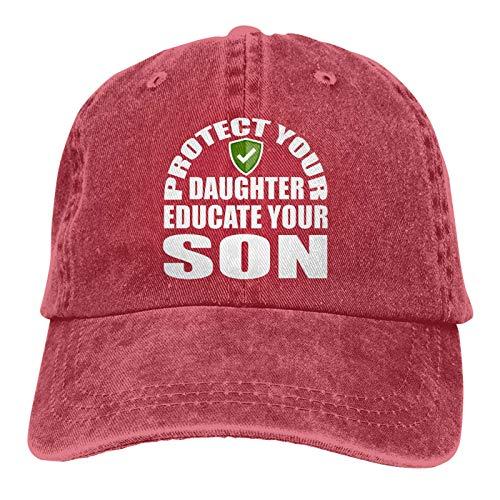 Protege a tu hija: educa a tu hijo, gorra de béisbol con protección solar para camionero y papá
