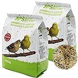 BPS Pienso Canarios Jilgueros 1.8Kg Alimento Completo Comida con ormula Alta Energía Material Natural Receta Equilibrada con Base Científica BPS-4025 * 2