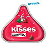 hershey's kisses christmas & holiday milk chocolates (red, green and silver foils), 200g